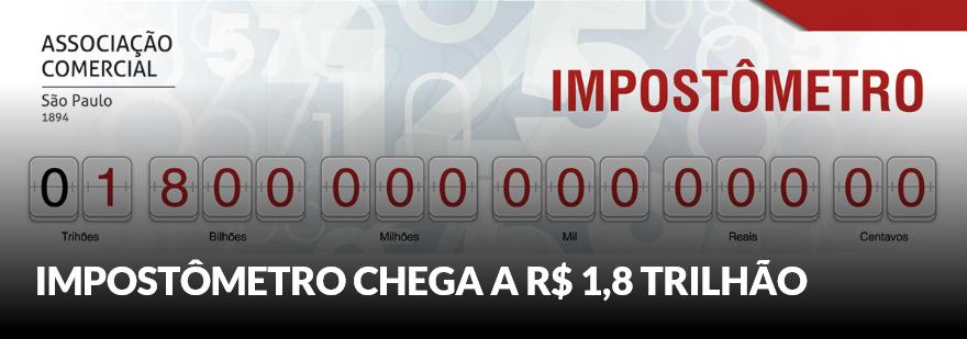 Impostômetro Da ACSP Atingiu A Marca De R$ 1,8 Trilhão